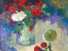 Roses in Red and White SOLD